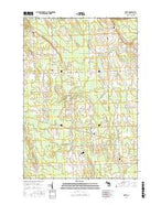 Metz Michigan Current topographic map, 1:24000 scale, 7.5 X 7.5 Minute, Year 2016 from Michigan Map Store