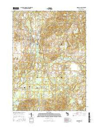 Middleville Michigan Current topographic map, 1:24000 scale, 7.5 X 7.5 Minute, Year 2016