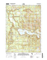 Millgrove Michigan Current topographic map, 1:24000 scale, 7.5 X 7.5 Minute, Year 2016