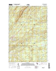 Mohawk Michigan Current topographic map, 1:24000 scale, 7.5 X 7.5 Minute, Year 2017 from Michigan Maps Store