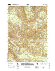 Morey Michigan Current topographic map, 1:24000 scale, 7.5 X 7.5 Minute, Year 2016