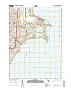 Mount Clemens East Michigan Current topographic map, 1:24000 scale, 7.5 X 7.5 Minute, Year 2017 from Michigan Map Store