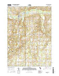 Nashville Michigan Current topographic map, 1:24000 scale, 7.5 X 7.5 Minute, Year 2016