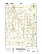 New Lothrop Michigan Current topographic map, 1:24000 scale, 7.5 X 7.5 Minute, Year 2016 from Michigan Map Store