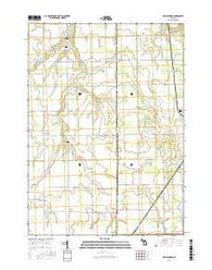 New Lothrop Michigan Current topographic map, 1:24000 scale, 7.5 X 7.5 Minute, Year 2016