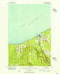 Ontonagon Michigan Historical topographic map, 1:62500 scale, 15 X 15 Minute, Year 1955