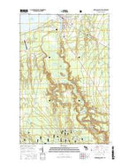 Ontonagon South Michigan Current topographic map, 1:24000 scale, 7.5 X 7.5 Minute, Year 2017 from Michigan Map Store