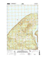 Oskar Michigan Current topographic map, 1:24000 scale, 7.5 X 7.5 Minute, Year 2017 from Michigan Map Store