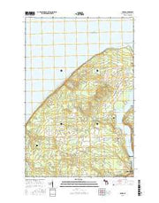 Oskar Michigan Current topographic map, 1:24000 scale, 7.5 X 7.5 Minute, Year 2017 from Michigan Maps Store