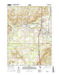 Otsego Michigan Current topographic map, 1:24000 scale, 7.5 X 7.5 Minute, Year 2016