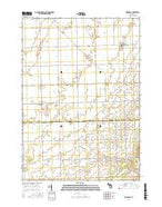 Owendale Michigan Current topographic map, 1:24000 scale, 7.5 X 7.5 Minute, Year 2016 from Michigan Map Store