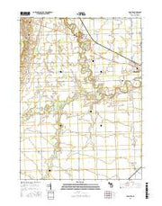 Palmyra Michigan Current topographic map, 1:24000 scale, 7.5 X 7.5 Minute, Year 2016 from Michigan Maps Store