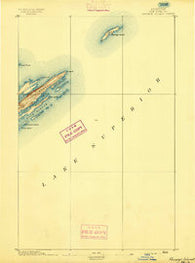 Passage Island Michigan Historical topographic map, 1:62500 scale, 15 X 15 Minute, Year 1895