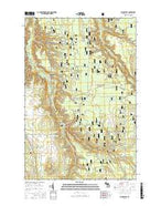 Paynesville Michigan Current topographic map, 1:24000 scale, 7.5 X 7.5 Minute, Year 2017 from Michigan Map Store