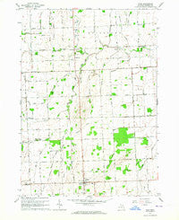 Peck Michigan Historical topographic map, 1:24000 scale, 7.5 X 7.5 Minute, Year 1963