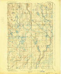 Perch Lake Michigan Historical topographic map, 1:62500 scale, 15 X 15 Minute, Year 1895