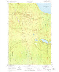 Piatt Lake Michigan Historical topographic map, 1:24000 scale, 7.5 X 7.5 Minute, Year 1951