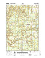 Platte River Michigan Current topographic map, 1:24000 scale, 7.5 X 7.5 Minute, Year 2016