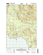 Pontchartrain Shores Michigan Current topographic map, 1:24000 scale, 7.5 X 7.5 Minute, Year 2017 from Michigan Map Store