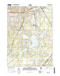 Portage Michigan Current topographic map, 1:24000 scale, 7.5 X 7.5 Minute, Year 2016