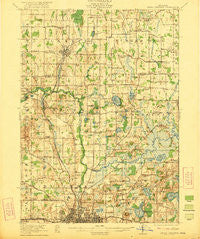Rives Junction Michigan Historical topographic map, 1:62500 scale, 15 X 15 Minute, Year 1921