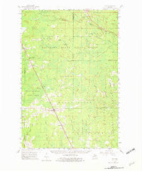 Rock Michigan Historical topographic map, 1:62500 scale, 15 X 15 Minute, Year 1958