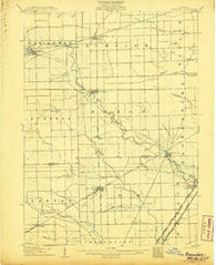 Romulus Michigan Historical topographic map, 1:62500 scale, 15 X 15 Minute, Year 1906