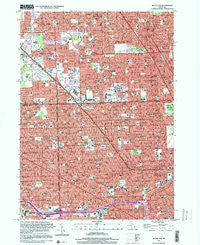Royal Oak Michigan Historical topographic map, 1:24000 scale, 7.5 X 7.5 Minute, Year 1996