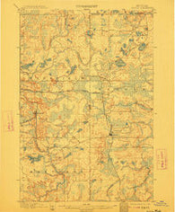 Sagola Michigan Historical topographic map, 1:62500 scale, 15 X 15 Minute, Year 1899