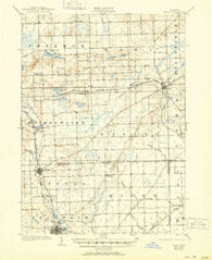 Saline Michigan Historical topographic map, 1:62500 scale, 15 X 15 Minute, Year 1906