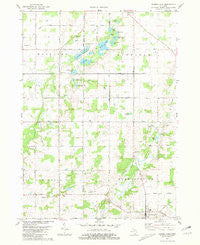 Saubee Lake Michigan Historical topographic map, 1:24000 scale, 7.5 X 7.5 Minute, Year 1981