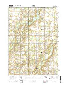 Saubee Lake Michigan Current topographic map, 1:24000 scale, 7.5 X 7.5 Minute, Year 2016