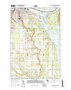 Sault Ste. Marie South Michigan Current topographic map, 1:24000 scale, 7.5 X 7.5 Minute, Year 2017 from Michigan Map Store