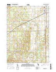 Schoolcraft Michigan Current topographic map, 1:24000 scale, 7.5 X 7.5 Minute, Year 2016