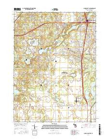 Schoolcraft NW Michigan Current topographic map, 1:24000 scale, 7.5 X 7.5 Minute, Year 2016