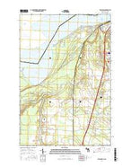 Shallows Michigan Current topographic map, 1:24000 scale, 7.5 X 7.5 Minute, Year 2017 from Michigan Map Store
