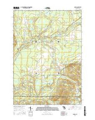 Sharon Michigan Current topographic map, 1:24000 scale, 7.5 X 7.5 Minute, Year 2016