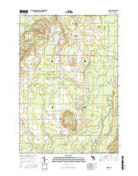 Sigma Michigan Current topographic map, 1:24000 scale, 7.5 X 7.5 Minute, Year 2016