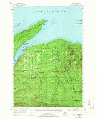 Skanee Michigan Historical topographic map, 1:62500 scale, 15 X 15 Minute, Year 1954