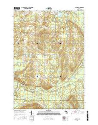 Smithville Michigan Current topographic map, 1:24000 scale, 7.5 X 7.5 Minute, Year 2016