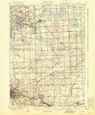 South Lyon Michigan Historical topographic map, 1:62500 scale, 15 X 15 Minute, Year 1906