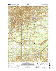 South Boardman Michigan Current topographic map, 1:24000 scale, 7.5 X 7.5 Minute, Year 2016