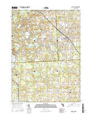 South Lyon Michigan Current topographic map, 1:24000 scale, 7.5 X 7.5 Minute, Year 2017 from Michigan Maps Store