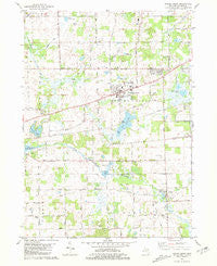 Spring Arbor Michigan Historical topographic map, 1:24000 scale, 7.5 X 7.5 Minute, Year 1981