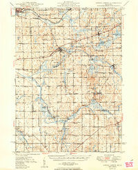 Spring Arbor Michigan Historical topographic map, 1:62500 scale, 15 X 15 Minute, Year 1949