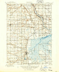 St. Charles Michigan Historical topographic map, 1:62500 scale, 15 X 15 Minute, Year 1917