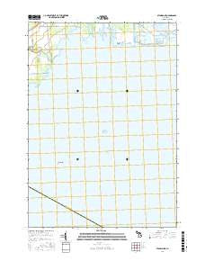 Standish NE Michigan Current topographic map, 1:24000 scale, 7.5 X 7.5 Minute, Year 2016