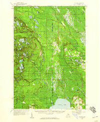 Steuben Michigan Historical topographic map, 1:62500 scale, 15 X 15 Minute, Year 1958