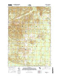 Stittsville Michigan Current topographic map, 1:24000 scale, 7.5 X 7.5 Minute, Year 2016