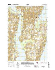 Suttons Bay Michigan Current topographic map, 1:24000 scale, 7.5 X 7.5 Minute, Year 2016